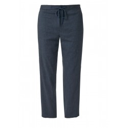 Relaxed: Linen trousers with pinstripes by s.Oliver Black Label