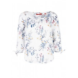 Patterned blouse with broderie anglaise by s.Oliver Red Label