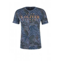Slim: T-Shirt mit Allover-Print by s.Oliver Red Label