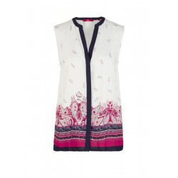Viscose blouse with an all-over print by s.Oliver Red Label