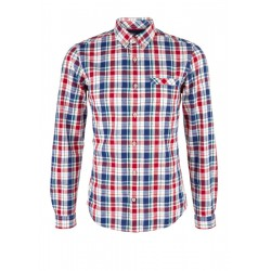 Slim: check button-down shirt by s.Oliver Red Label