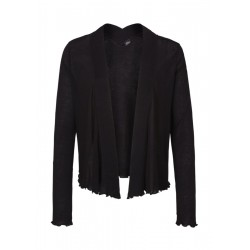 Jersey cardigan with a striped hem by s.Oliver Black Label