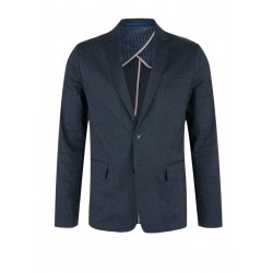 Relaxed: linen jacket with pinstripes by s.Oliver Black Label