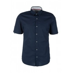 Slim: Textured short sleeve shirt by s.Oliver Red Label