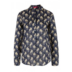 Leopard blouse with appliqués by s.Oliver Red Label