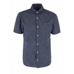 Regular: Shirt with a jacquard pattern by s.Oliver Red Label