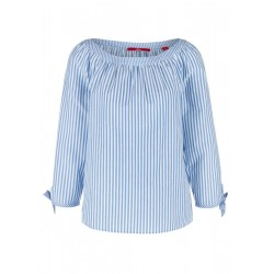 Striped blouse with knotted details by s.Oliver Red Label