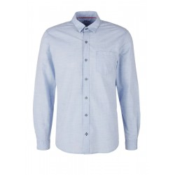 Regular: shirt with a woven pattern by s.Oliver Red Label