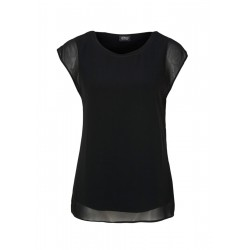Layered crepe blouse by s.Oliver Black Label