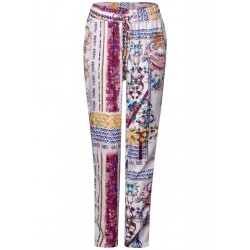 Patchwork print pants Chelsea by Cecil