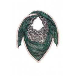 Triangular scarf with a fringed border by s.Oliver Red Label