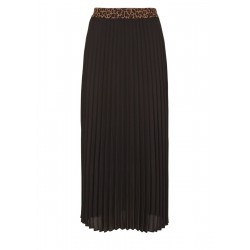 Pleated skirt with a contrast waistband by s.Oliver Black Label