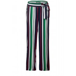 Wide leg pants with stripes by Street One