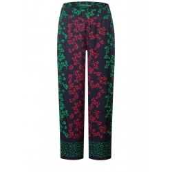 Wide leg pants with flowers by Street One