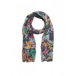 Print scarf with a textured effect by s.Oliver Red Label