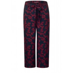 Print pants with wide leg by Street One