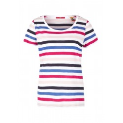 Cold-shoulder top with stripes by s.Oliver Red Label