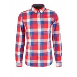 Slim: Shirt with colourful checks by s.Oliver Red Label