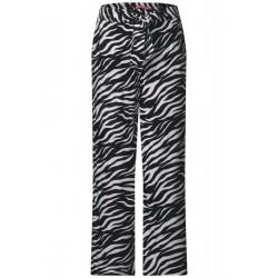 Wide leg pants with zebra print by Street One