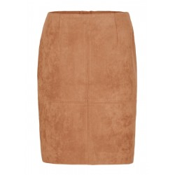 Imitation leather skirt by Comma