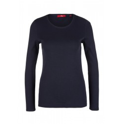 Finely ribbed long sleeve top by s.Oliver Red Label