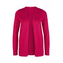 Cardigan with a ribbed lower hem by s.Oliver Red Label