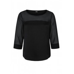 Chiffon blouse with a sheer finish by s.Oliver Black Label