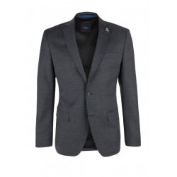 Slim: stretch jacket made of blended wool by s.Oliver Black Label