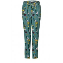 Flower-Print Hose Chelsea by Cecil
