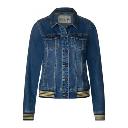 Denimjacke mit Collegedetail by Cecil