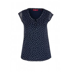 Mesh top with a tunic neckline by s.Oliver Red Label