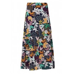 Long skirt with a floral print by s.Oliver Red Label