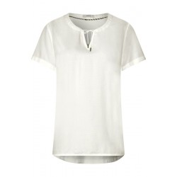 Material mix blouse by Cecil