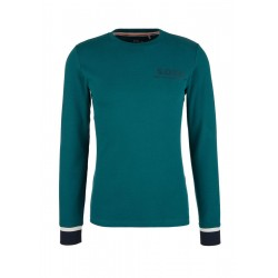 Slim: long sleeve top with ribbed trims by s.Oliver Red Label