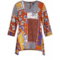Flared blouse top by Samoon