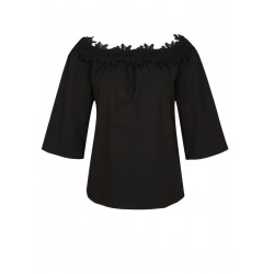 Off-shoulder blouse with lace by s.Oliver Black Label