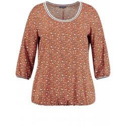 Blouse top with an animal print by Samoon
