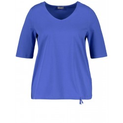 1/2-sleeve top with a drawstring by Samoon