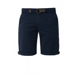Slim: Chino Bermudas with a belt by s.Oliver Black Label
