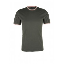 Jersey T-shirt with ribbed details by s.Oliver Black Label