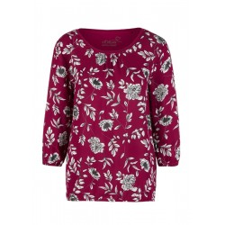 Patterned O-shaped blouse top by s.Oliver Red Label