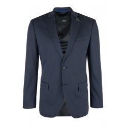 Regular: sports jacket with a textured pattern by s.Oliver Black Label