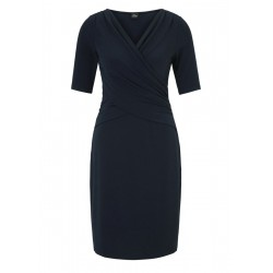 Stretch dress with a wrap effect by s.Oliver Black Label