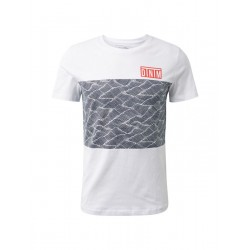 T-shirt with color blocking by Tom Tailor Denim