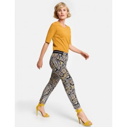 Trousers with a paisley pattern by Gerry Weber Collection