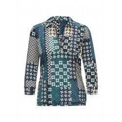 Jersey-Bluse mit Allover-Print by Marc O'Polo