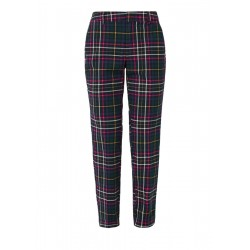 Shape Ankle: stretch check trousers by s.Oliver Red Label