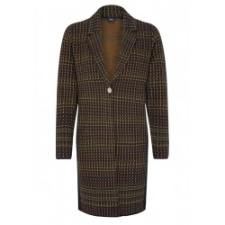Knitted coat with a jacquard pattern by s.Oliver Black Label