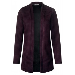 Sweat jacket with houndstooth by Cecil