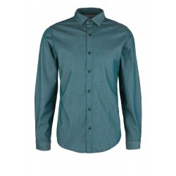 Slim: Shirt with a chambray pattern by s.Oliver Red Label